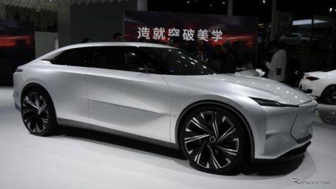 インフィニティが将来の電動パフォーマンスセダン提示、e-AWD搭載…上海モーターショー2019