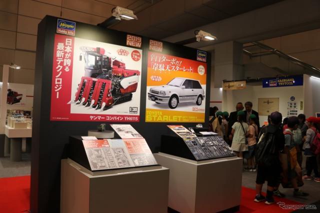 静岡ホビーショーハセガワブースの最前列では試作品が展示されていた。【撮影:中込健太郎】