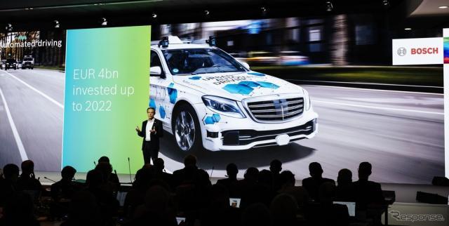 自動運転を含めた先進運転支援システム(ADAS)部門の2019年の売上高が、2018年の20億ユーロからおよそ15%伸びて23億ユーロ規模に達するとの見通しを発表したボッシュ取締役会フォルクマル・デナー会長