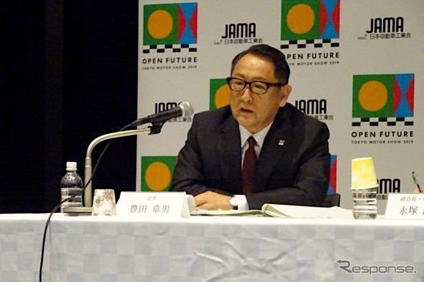 豊田章男会長(トヨタ自動車社長)《撮影 池原照雄》