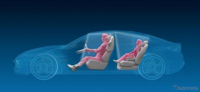 ZFの自動運転車向け乗員認識システムのイメージ