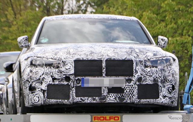 BMW M3 新型プロトタイプ(スクープ写真)《APOLLO NEWS SERVICE》