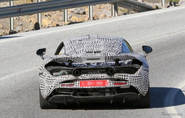 マクラーレンの新型ハイブリッドスポーツ・プロトタイプ(スクープ写真)《APOLLO NEWS SERVICE》