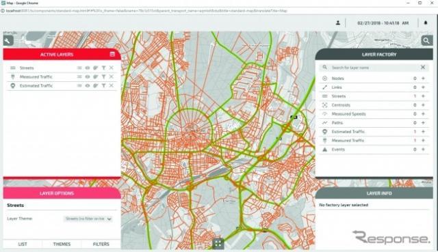ミクロ交通シミュレーター「Vissim」のイメージ