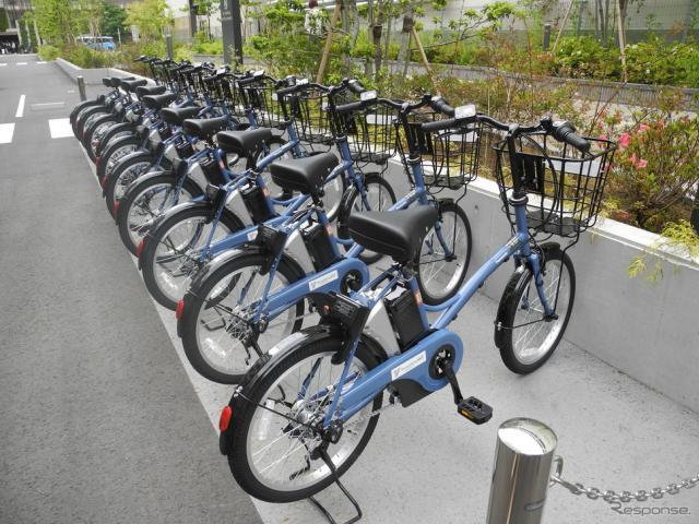 実証実験に使われるIoT電動アシスト自転車《撮影 山田清志》
