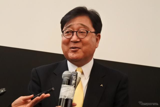 三菱自動車 益子修 会長CEO《撮影 小松哲也》