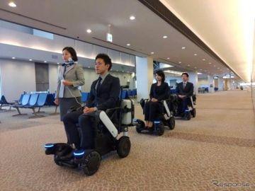 自動で追従する電動車いす ANAが成田空港で実証実験を実施へ