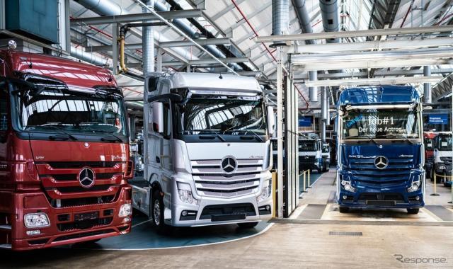 ドイツで生産が開始されたメルセデスベンツ・アクトロス 新型《photo by Mercedes-Benz》