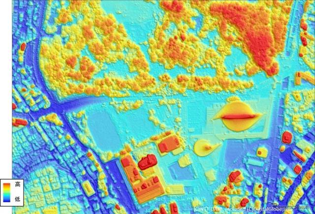 50cm解像度地形データ《画像 NTTデータ》