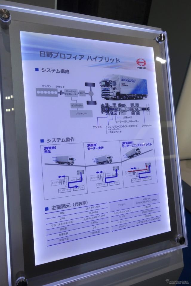 日野自動車(人とくるまのテクノロジー2019)《撮影 井元康一郎》