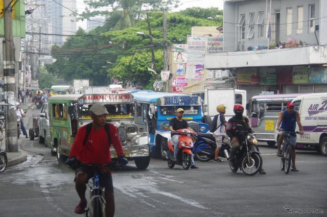 フィリピン・マニラ市内の様子《撮影 宮崎壮人》