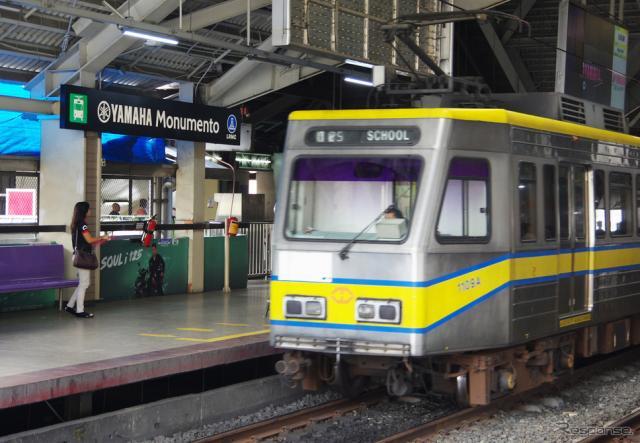 フィリピン・マニラ市内にある「ヤマハモニュメント駅」《撮影 宮崎壮人》