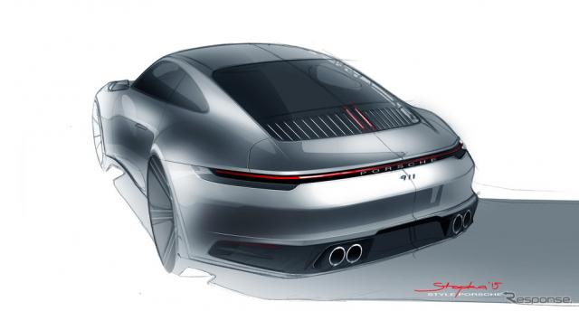 ポルシェ911新型デザイン開発スケッチ《sketch by Porsche》