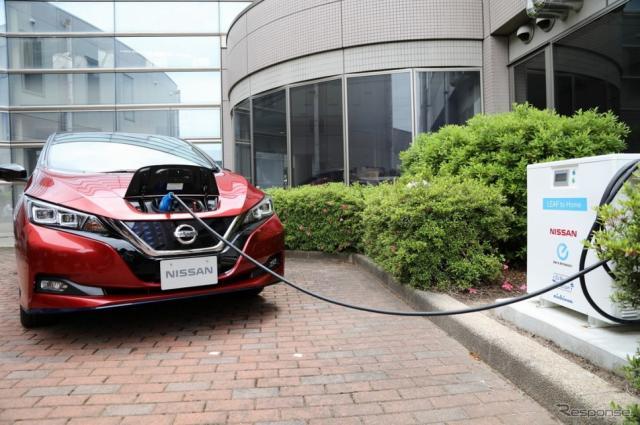 日産自動車と三重日産自動車が「災害時における電気自動車からの電力供給に関する協定」を伊勢市と締結《写真 日産自動車》