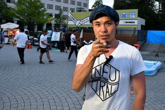 主催者のひとり、株式会社カドヤ(東京都台東区)企画室 小谷 渉さん。《撮影 青木タカオ》