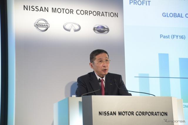 日産の西川CEO 《写真 日産自動車》