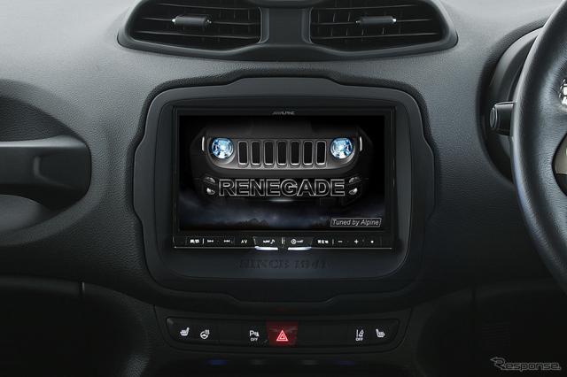 アルパイン ジープ レネゲード専用大画面8型カーナビ ビッグX(X8Z-REN)《写真 アルパイン》