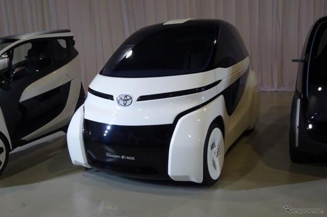 トヨタの超小型EVのコンセプト『i RIDE』《撮影 池原照雄》