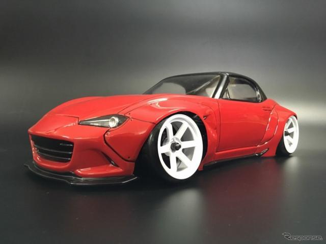 1/10スケールRCカー用ボディ「PANDEM MAZDA ROADSTER」《写真 柴田自動車》