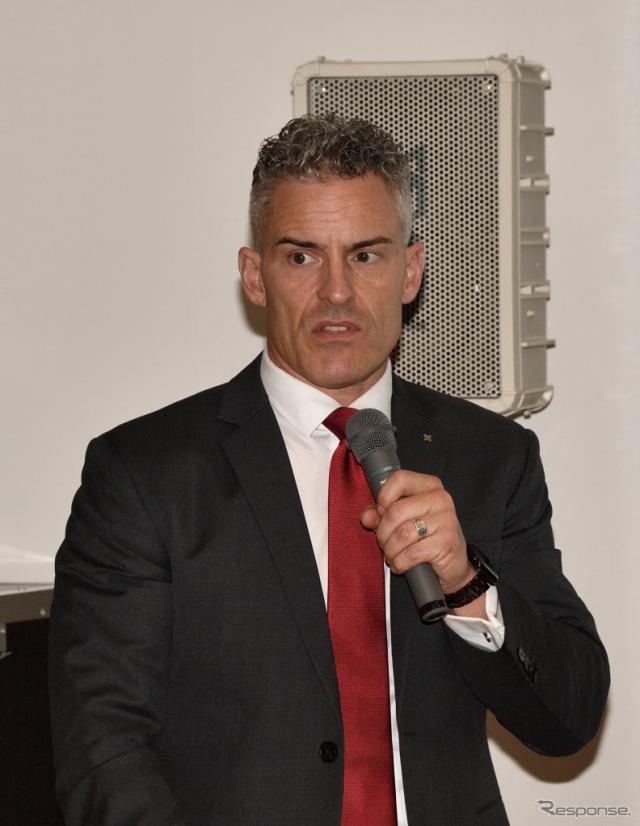 ボルグワーナーの副社長兼エミッションズ&サーマルシステムズ・アジア事業本部長のクリストファー・J.ランカー氏《撮影 雪岡直樹》