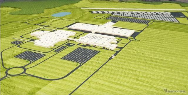 マツダとトヨタが米国に建設中のハンツビル新工場の完成イメージ《photo by Mazda》