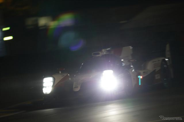 ポールポジションを獲得した#7 トヨタ。《写真提供 TOYOTA》