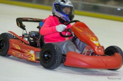 氷上をEVカートがドリフト、SDGsに即した新モータースポーツを提案 日本EVクラブ