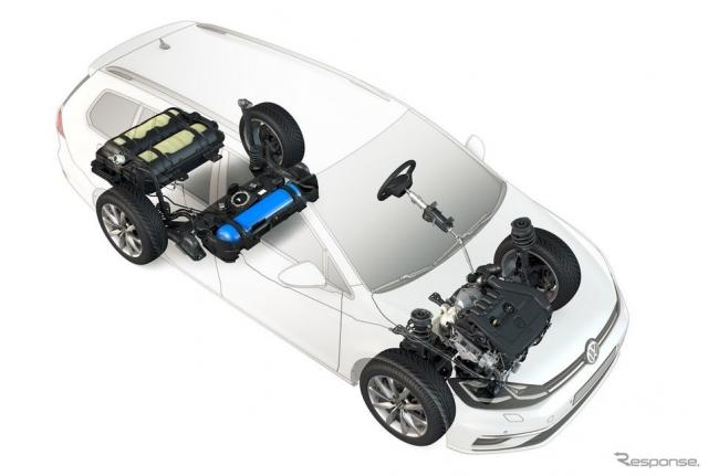 VW ゴルフ・ヴァリアント TGI改良新型《photo by VW》
