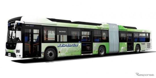 ZFのアクスル、いすゞと日野の国産初のハイブリッド連節バスに採用