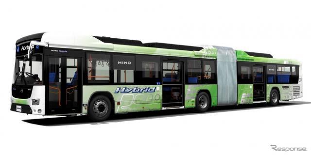 日野ブルーリボン ハイブリッド 連節バス《写真 日野自動車》