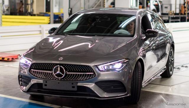 メルセデスベンツ CLA シューティングブレーク 新型の量産第一号車《photo by Mercedes-Benz》