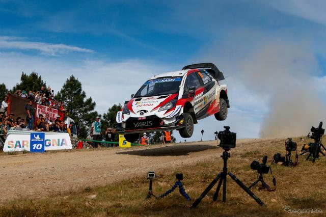 WRC第8戦イタリアでのヤリスWRCの走り(#10 J-M.ラトバラ)。《写真提供 TOYOTA》