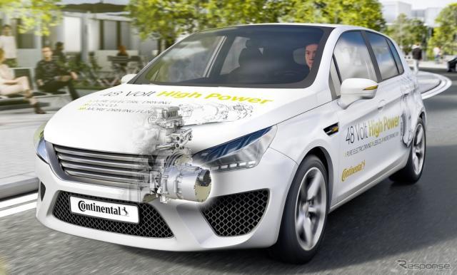 コンチネンタルが新開発したハイブリッド車向けの48ボルトのハイパワードライブシステムのイメージ《photo by Continental》