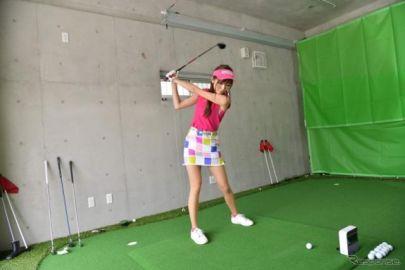アプローチの練習もできる! 賃貸ガレージハウスはゴルフの練習スペース