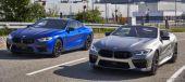 BMW M8 クーペ の量産第一号車とBMW M8 カブリオレ の量産第一号車《photo by BMW》