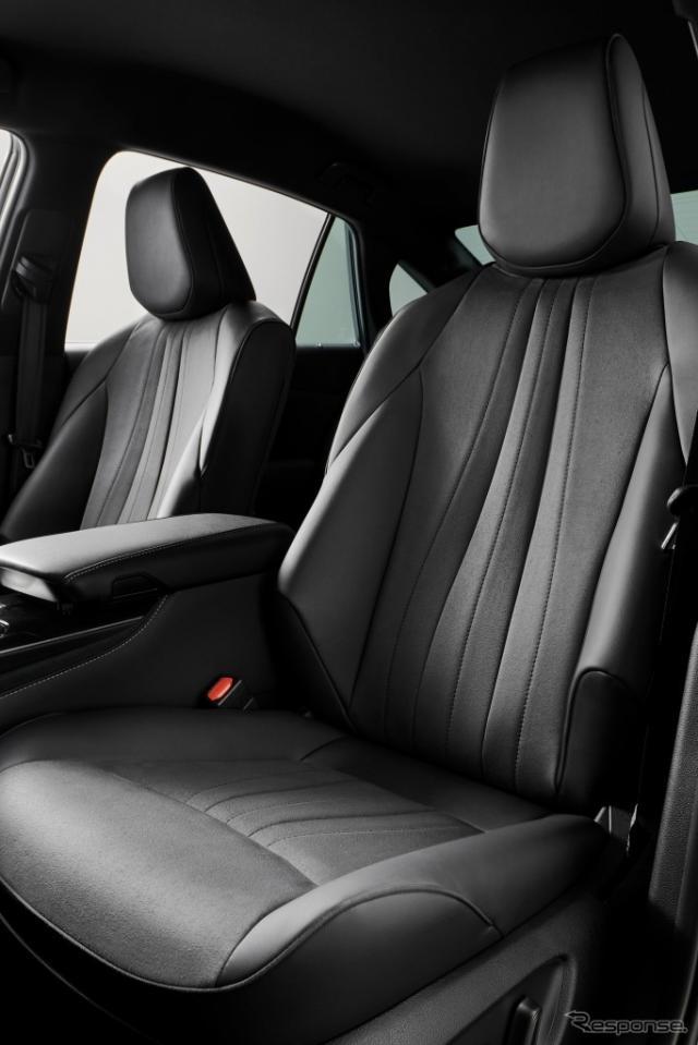 シート表皮(ブランノーブ+合成皮革)ブラック《画像:トヨタ自動車》