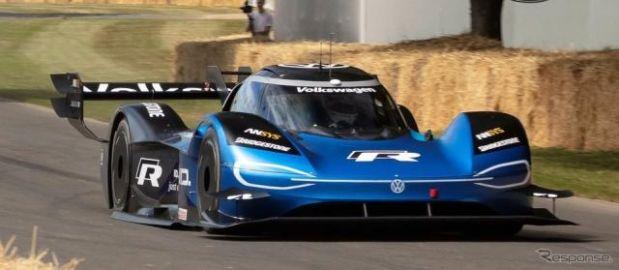 VWのEVレーサーが20年ぶり新記録、F1マシン超えた…グッドウッド2019のヒルクライム