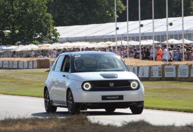 ホンダの新型EV『ホンダe』の最新プロトタイプ発表、ヒルクライムにも出走…グッドウッド2019