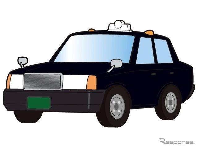 タクシー(イメージ)《イラストAC》