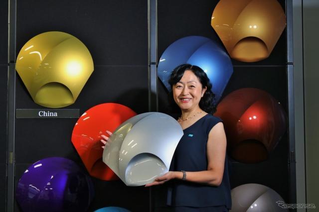 BASFコーティングス事業部カラーデザインセンターアジア・パシフィックチーフデザイナーの松原千春さん《撮影  内田俊一》