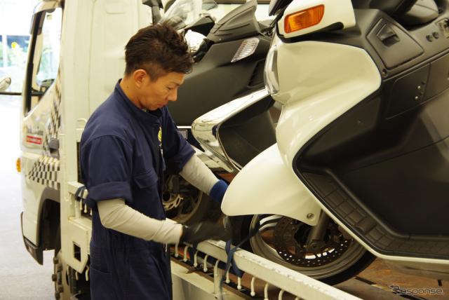 個人宅から北海道へのバイク輸送サービスをおこなうゼロ・プラスBHS《撮影 宮崎壮人》