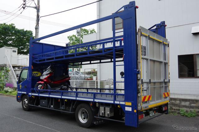 用途に応じて様々な積載車を用意《撮影 宮崎壮人》