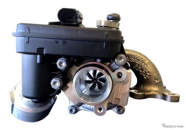 ボルグワーナーが開発した初の混合燃料対応ターボ《photo by Borg Warner》