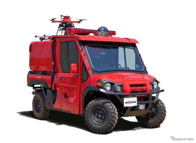 モリタの小型オフロード消防車「レッドレディバグ」《画像:モリタ》