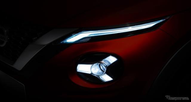 日産が9月に発表する新型車のティザーイメージ《photo by Nissan》