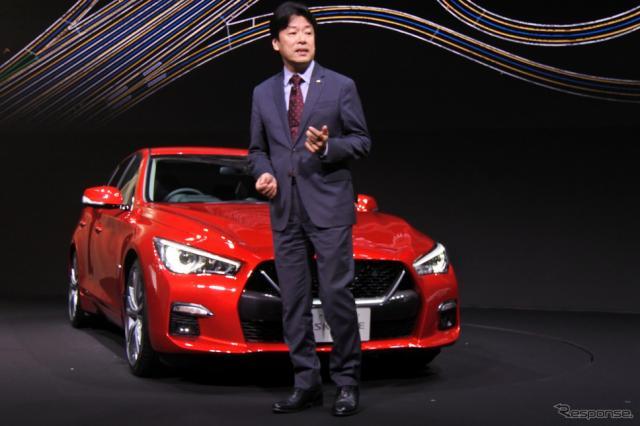日産自動車 スカイライン 改良新型 発表会《撮影 小松哲也》