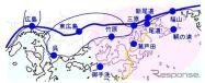到着エリア=広島県東部を中心とするエリア《画像 JR西日本》