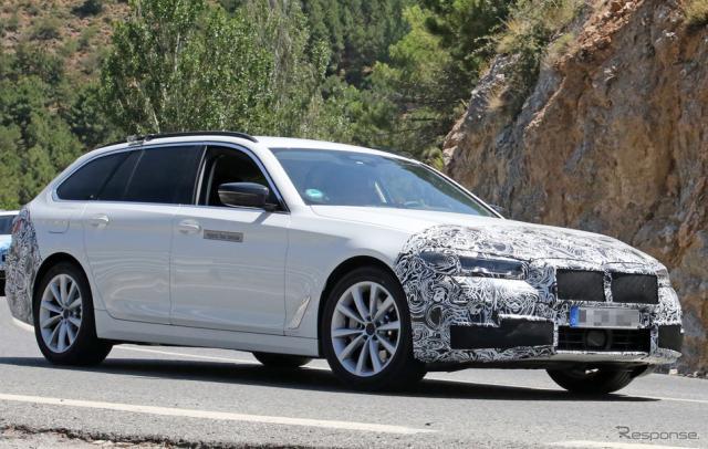 BMW 5シリーズツーリング 改良新型(スクープ写真)《APOLLO NEWS SERVICE》