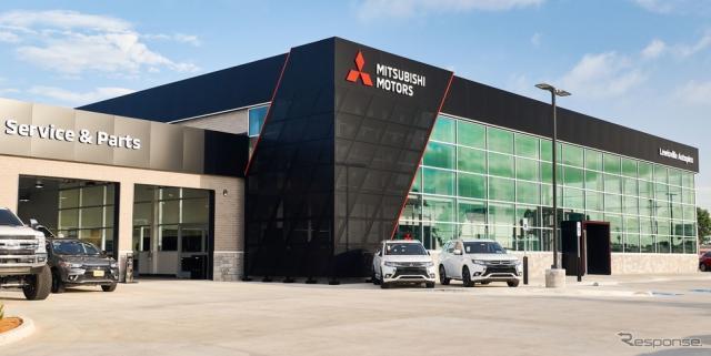 三菱の新グローバルディーラーデザインを導入した米国第一号店《photo by Mitsubishi Motors》