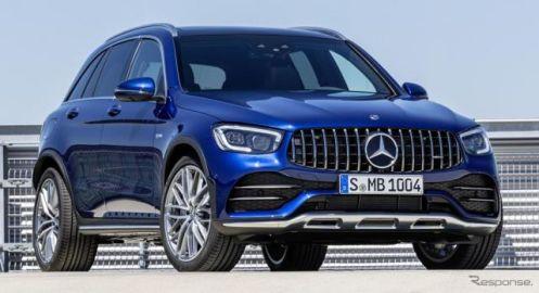メルセデス GLC 改良新型に「AMG43」、390馬力に強化…欧州発表